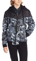 Southpole Men's Reversible Hooded Full Zip Nylon Jacket with Zippered Pockets