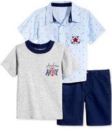 Nannette 3-Pc Shirt, T-Shirt & Shorts Set, Toddler & Little Boys (2T-7)