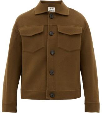 Acne Studios Dagnite Boiled-wool Jacket - Brown