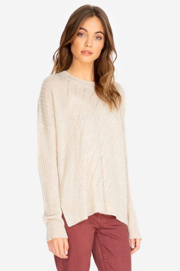 Johnny Was Etta Cashmere Side Slit Pullover