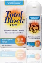 Total Block Fallene Face UVA/UVB Complete Broad Spectrum Sun Protection, SPF 60 Tinted, 2 fl Ounces (59 ml)