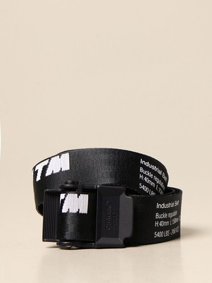 Off-White Off White Belt In Logoed Canvas