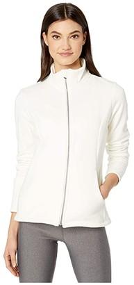 Skechers Snuggle Fleece Full Zip (Off-White) Women's Clothing