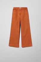 Thumbnail for your product : Weekday Vida High Cropped Wide Jeans - Yellow