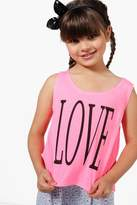 Boohoo Girls Love Tie Side Vest Top