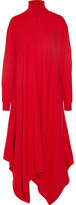 Stella McCartney Oversized Felted Wool Turtleneck Dress - Tomato red