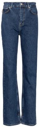 Ganni Mid-rise straight jeans