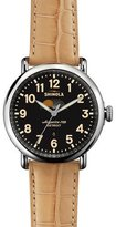 Shinola 41mm Runwell Moon Phase Watch, Tan