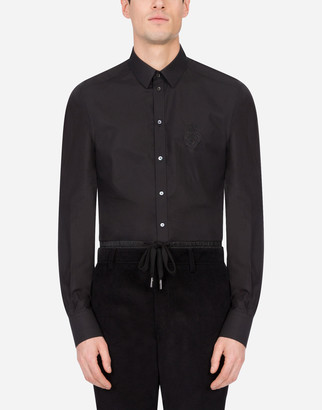 Dolce & Gabbana Cotton Gold-Fit Shirt With Embroidery