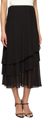 Alex Evenings Women's Petite Chiffon Skirt Various Styles (Regular Sizes)