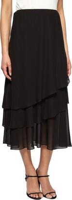 Alex Evenings Women's Tea Length Skirt Various Styles (Petite Regular)