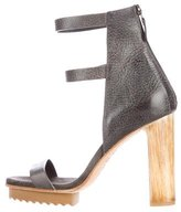 Brunello Cucinelli Pebbled Leather Multistrap Sandals