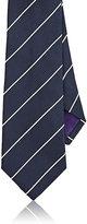 Ralph Lauren Purple Label Men's Striped Silk Jacquard Necktie-NAVY