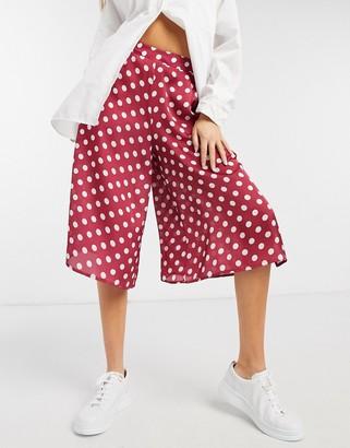 ELVI culottes in spot print