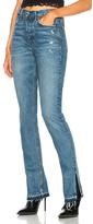 GRLFRND Natalia High Rise Skinny Split Jean in Blue.