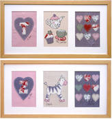 milly and pip Personalised Girl's Alphabet Framed Picture