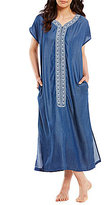 Kate Landry Casuals Embroidered Zip Patio Dress