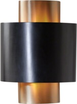 Global Views Nordic Gold Wall Sconce - Hardwired