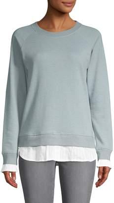 Grey State Raglan-Sleeve Cotton-Blend Sweatshirt
