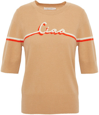 Chinti and Parker Intarsia Wool And Cashmere-blend Top