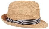 Hackett Stripe Trim Trilby Hat