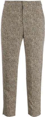 Chloé Chevron Cropped Trousers