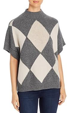 Fabiana Filippi Cashmere Argyle Sweater