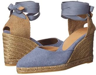 Castaner Joyce 80 Wedge Espadrille (Jeans Claro) Women's Shoes
