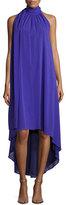 Trina Turk Panoramic Sleeveless Silk Georgette High-Low Dress