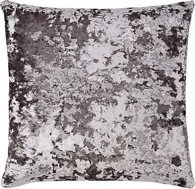 Aviva Stanoff Crushed Velvet Pillow - Charcoal