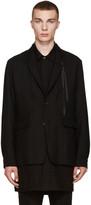 Ann Demeulemeester Black Wool Ribbon Blazer