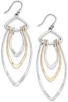 Lucky Brand Two-Tone Triple-Loop Drop Earrings
