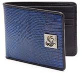 Salvatore Ferragamo Lizard Embossed Bifold Wallet