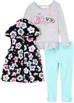 Kids Headquarters Gray 'Love' Top Set - Girls