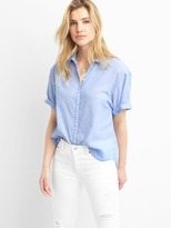 Gap Short sleeve roll cuff shirt