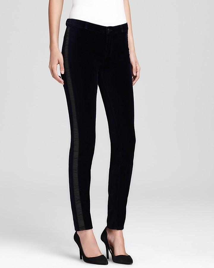 J Brand Jeans - Stretch Velvet Trouser with Tuxedo Stripe