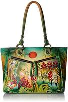 Anuschka Large Shopper with Front Pocketsrousseau's Jungle