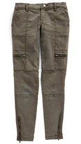 Tractr Girl's Utility Cargo Ankle Jeans