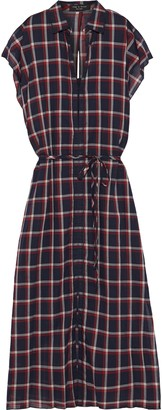 Rag & Bone Sybil Cutout Checked Cotton-gauze Midi Dress