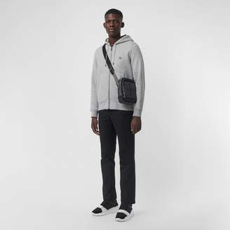 Burberry Check Detail Jersey Hooded Top