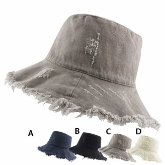 HOSD Sun Hat with UV Protection UV Rays Packable & Stylish Wide Brim Summer Hats Bucket hat Fashion Korean hat Woman hat Summer Gray
