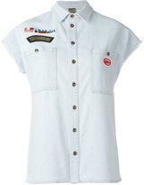 Mr & Mrs Italy patches denim shirt