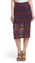 Juniors Lace Midi Skirt