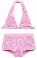 Elizabeth Hurley Pink Cheetah Shortie Bikini