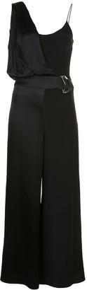 Cushnie Belted Wide-Leg Jumpsuit