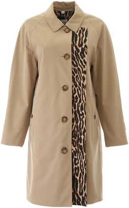 Burberry Raincoat With Leopard Print Lining