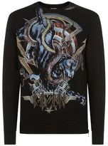 Balmain Printed Panther Sweater