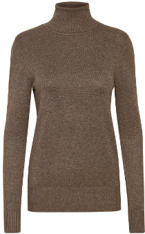 Saint Tropez Mila Rollneck Top Brown - S