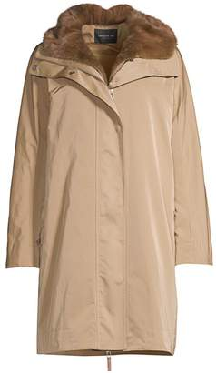 Lafayette 148 New York Sinclair Fur-Lined Hooded Coat