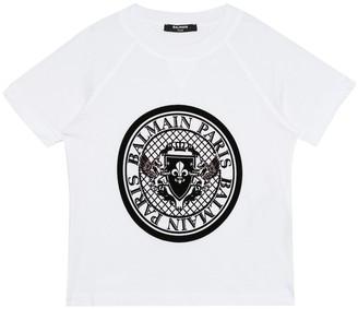 Balmain Kids Logo cotton T-shirt